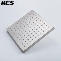 KES J311/ 2 Extra Large Rain Fall Shower Head Fixed Mount Modern Square, Polished Chrome/Brushed Nickel