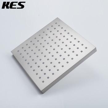 KES J311/-2 очень большая душевая головка для дождя и осени с фиксированным креплением современный квадратный, полированный хром/матовый никель
