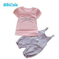 BibiCola Baby Fashion Clothing Sets toddle Clothes Summer Baby Sets Cartoon Infant Suit Newborn Baby Girl Outfits T-shirt+Pants