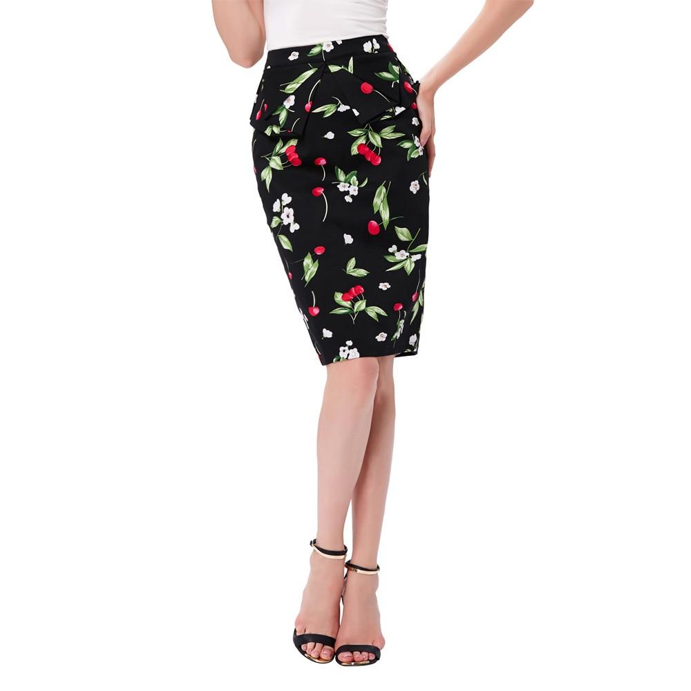 009ce67c52 Sexy verano falda 2017 moda jupe alta cintura Polka Dots plisado Mujer  talla grande Vintage Bodycon corto lápiz Faldas Mujer en Faldas de La ropa  de las ...