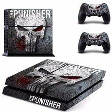 O punisher ps4 adesivo de pele para sony playstation 4 console e controlador para dualshock 4 ps4 skins adesivo decalque vinil