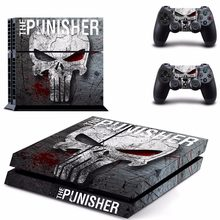 The Punisher PS4 Skin Sticker para Sony PlayStation 4 consola y controlador para Dualshock 4 PS4 Skins pegatina calcomanía vinilo(China)