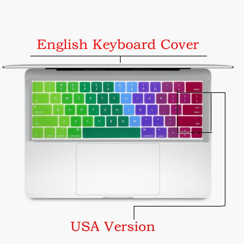 Silicone usa version english keyboard layout 2016 new for macbook silicone usa version english keyboard layout 2016 new for macbook pro 13 15 a1706 a1707 a1708 with touch bar keyboard stickers in keyboard covers from ccuart Gallery