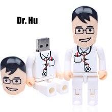 USB flash drive 64gb pendrive 32gb doctor nurse cartoon usb 2.0 pen drive 16gb 8gb usb stick mini gift flash drive pen drive