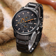 Chronograph Men Watches Relogio Masculino LONGBO Brand Men Casual Quartz Wrist Watch Men Full Steel Montre