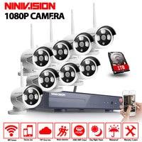 CCTV System 1080P 8CH HD Wireless Kit Night Vision IP Camera Wifi 2 0mp CCTV Camera