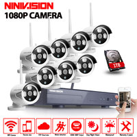 CCTV System 1080P 8CH HD Wireless Kit Night Vision IP Camera Wifi 2 0mp CCTV Camera