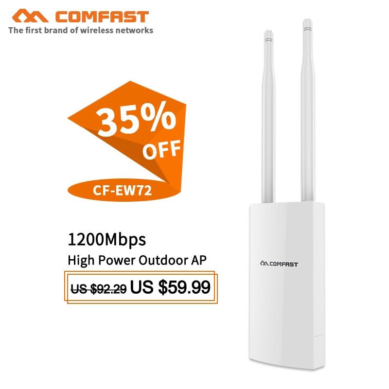 1200 Mbps 500 mw wireless Outdoor AP POE wifi router 802.11ac Dual Band WiFi ripetitore Del Segnale Del ripetitore stazione base ponte antenne