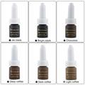 , Elegirá de pigmentos de maquillaje permanente de tinta 6 unids/lote Oro Rosa pigmento pigmento Ceja kit attooing 3d pluma tatuaje PMU