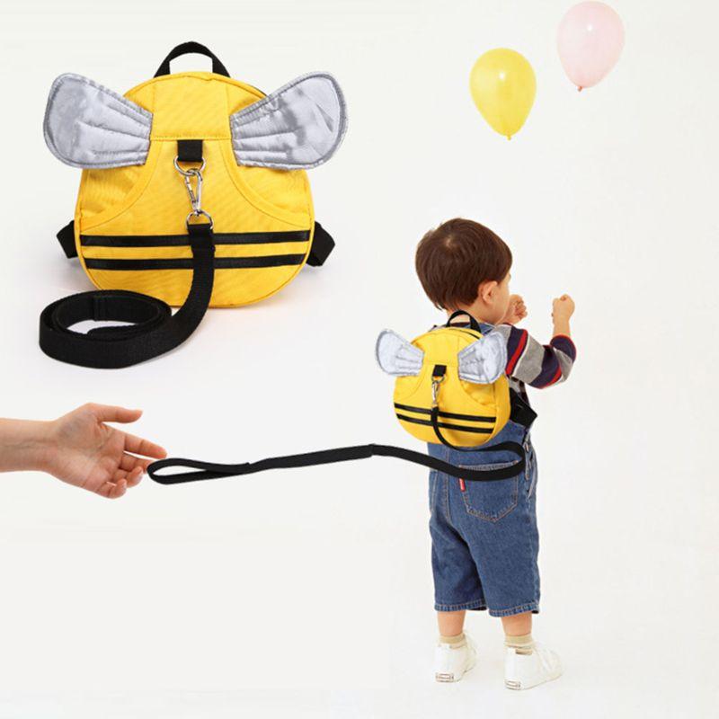 2019 Baby Walking Sicherheit Rucksack Anti-verloren Kleinkind Kind Rucksack Mit Sicherheit Leine Bee Rucksack Mit Flügel
