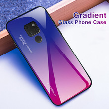 Case For Huawei Mate 20 Lite Mate20 Pro 10 Gradient Tempered Glass Cases huawei mate Luxury Cover