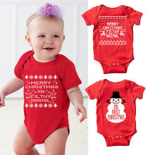 Hallowee Newborn Baby Kids Girls Boys Merry Christmas Romper Santa Claus and snowflakes Jumpsuit Outfit Set