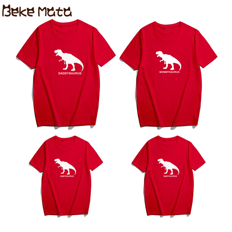 Household Matching Garments Summer season Father Son T-shirts Household Look Mom Daughter Dinosaur Print Dad Mother Son T Shirt Household Outfits Matching Household Outfits, Low cost Matching Household Outfits,...
