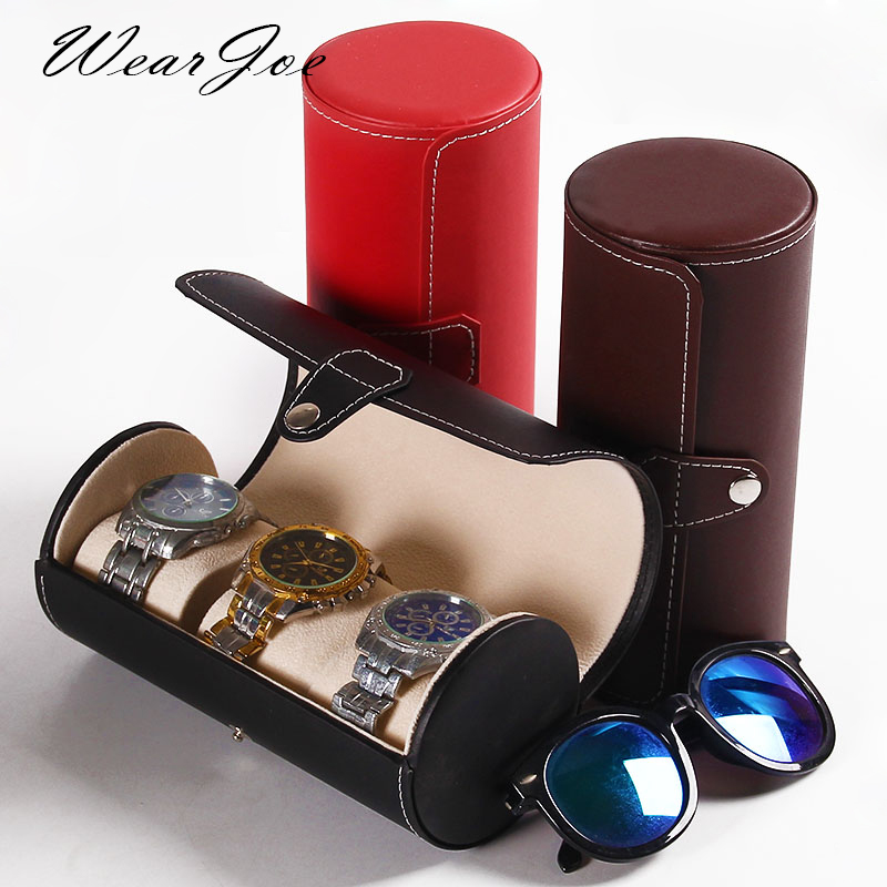 Quality Faux Leather Jewelry Storage Travel Bag For Watch