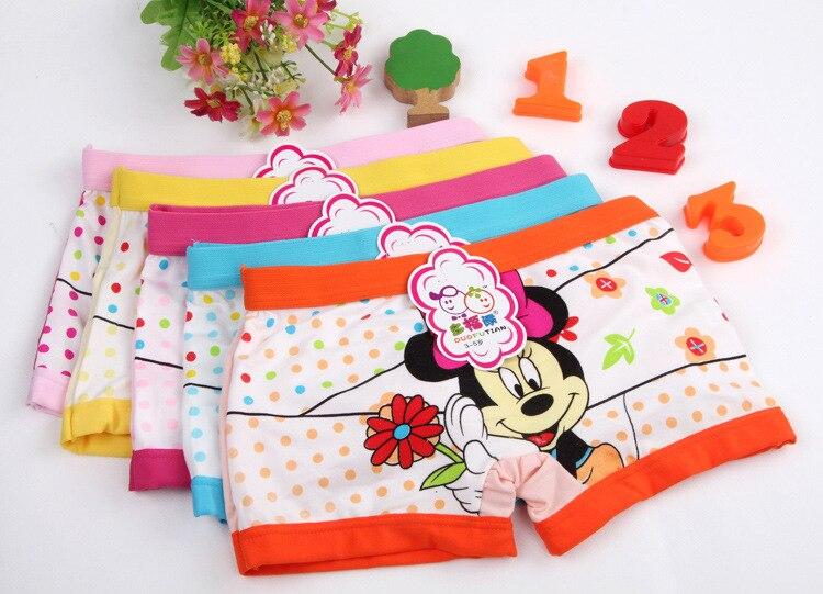 2018 5pcs / बहुत मिन्नी माउस अन्ना एल्सा कार्टून बच्चों के बॉक्सर अंडरवियर लड़की कपास पैंट बच्चों के लड़कों के लिए जांघिया