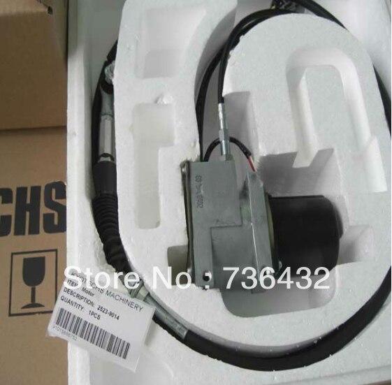 Livraison gratuite! Moteur d'accélérateur rond 2523-9014/2523-9015 pour pelle de DH220-5 Daewoo/Doosan, moteur de régulateur de moteur de carburant de pelle