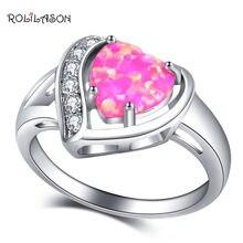 Rolilason ювелирные изделия Сердце Дизайн Кольца для влюбленных