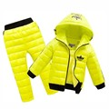 2017 Hoodies Down Jacket +Trousers Waterproof Snow Warm kids Clothes Jogging Suits New Children Boys girls Clothing sets 2-8year