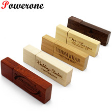JASTER LOGO customized natural Wooden chip usb flash drive pen drive pendrive 4gb 8gb 16gb 32GB memory Stick wedding gifts