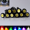 2pcs/lot 18mm Eagle Eye DIY COB DRL Daytime Running Light Led Car Reverse Parking Lamp Automotive Car Styling Auto Accessories