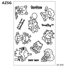 AZSG Various cute animals Squirrel style Clear Stamps Cutting Dies Set for DIY Scrapbooking/photo Album Decorative Craft Chapte