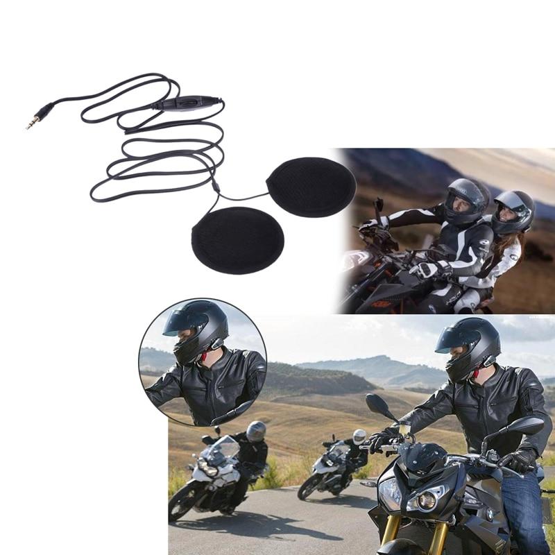 3.5mm Jack Motorbike Motorcycle Helmet Speakers Volume Control Helmet Headset For MP3 MP4 GPS Cellphone Mobilephone