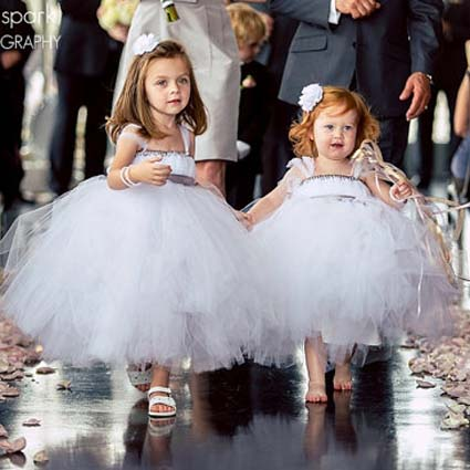 white tutu  baby bridesmaid flower girl wedding dress tulle fluffy ball gown USA birthday evening prom cloth party dress lilac tulle open back flower girl dresses with white lace and bow silver sequins kid tutu dress baby birthday party prom gown