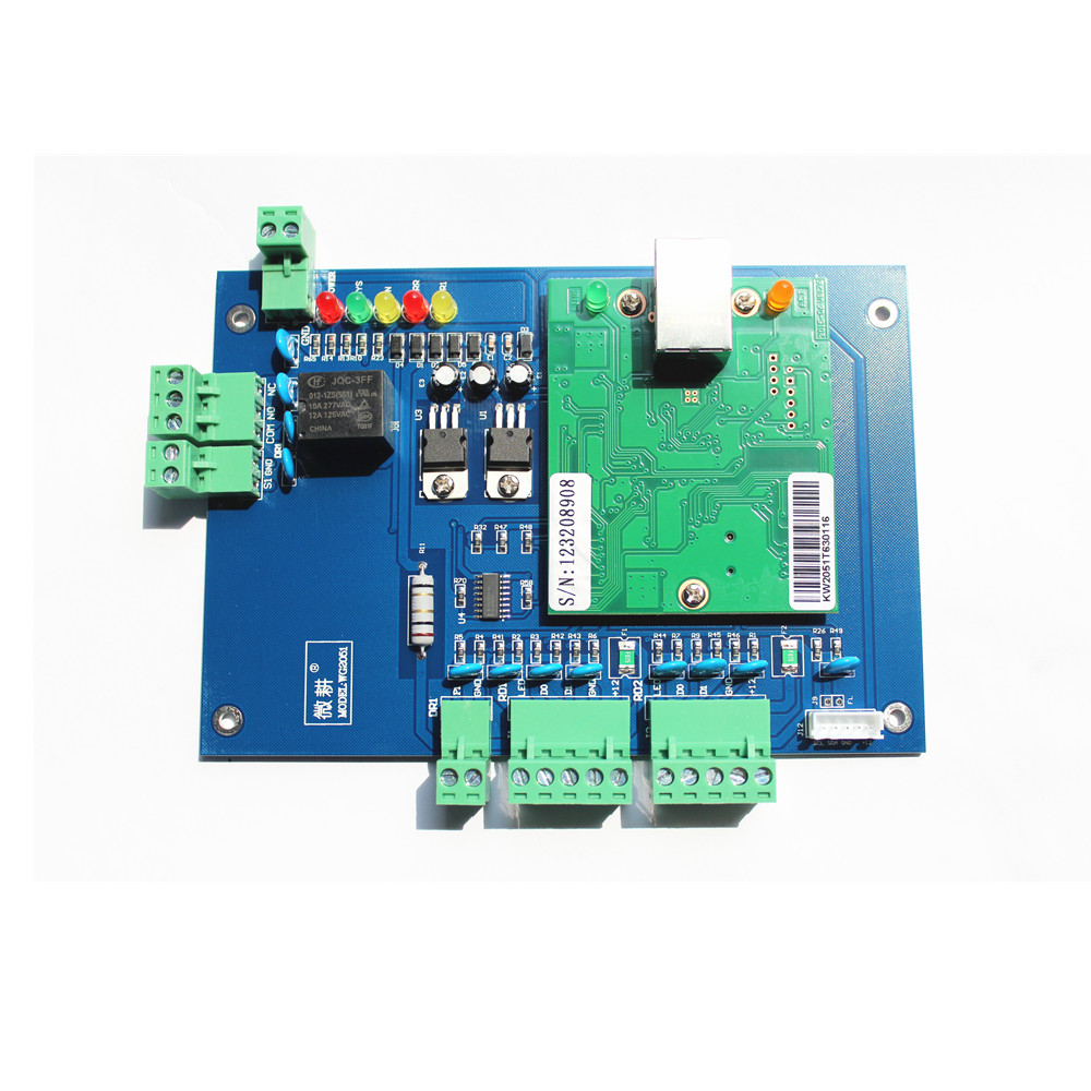 ФОТО Original WG2051 TCP/IP Network Access Control Board Panel Controller For Single 1 Door 2 Reader With Free Software
