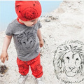 Retail2016 new baby clothes set baby boys girls clothing set cotton casual animal printed short-sleeve 2pcs/set baby boy clothes