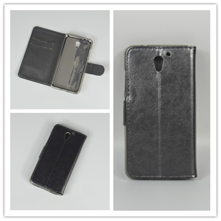 Crystal grain wallet case hold two Cards with 2 Card Holder and pouch slot For ZTE Blade A510 A 510 5.0 inch
