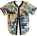 Los hombres la Ropa Nueva Camisa 90 s Nostalgia Jersey Con Cuello En V Manga Corta camisetas Outwear Camisetas Más El Tamaño