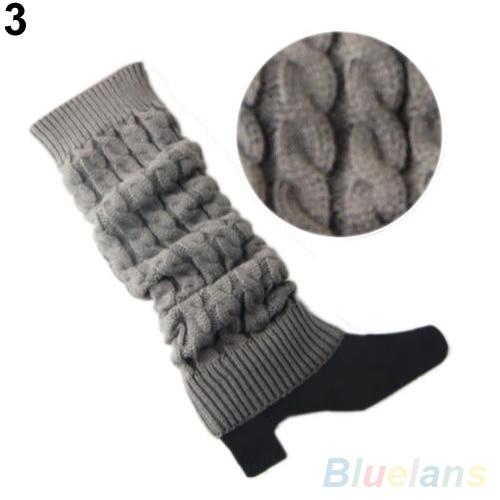 Wanita Crochet Rajutan Jalinan Musim Dingin Penghangat kaki Stocking  Panjang Manset Booting Stocking 8eb3f39d11