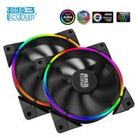 PcCooler 12cm Case Fan Halo LED AURA RGB 4pin PWM Quiet Suit For CPU Cooler Liquid