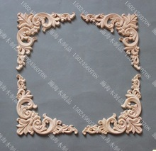 15x15x0.8 Wood Decal European furniture accessories Solid wood trim