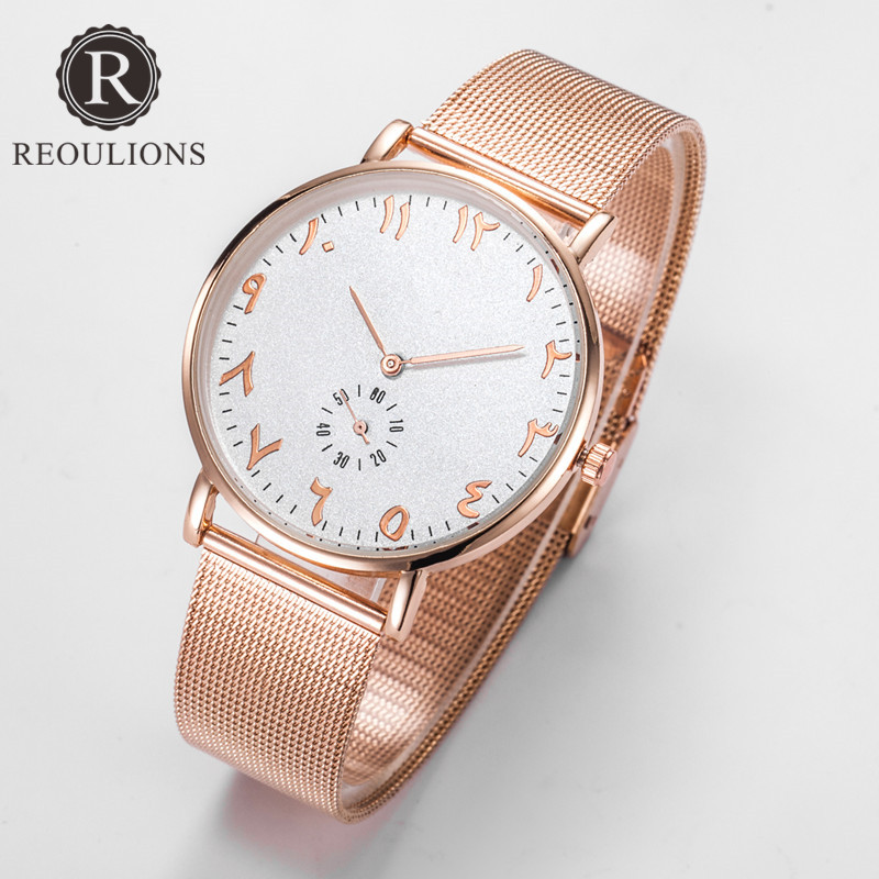 REOULIONS Top Luxury Brand Fashion Arabiska Numbers Kvinnor Watch - Damklockor - Foto 2