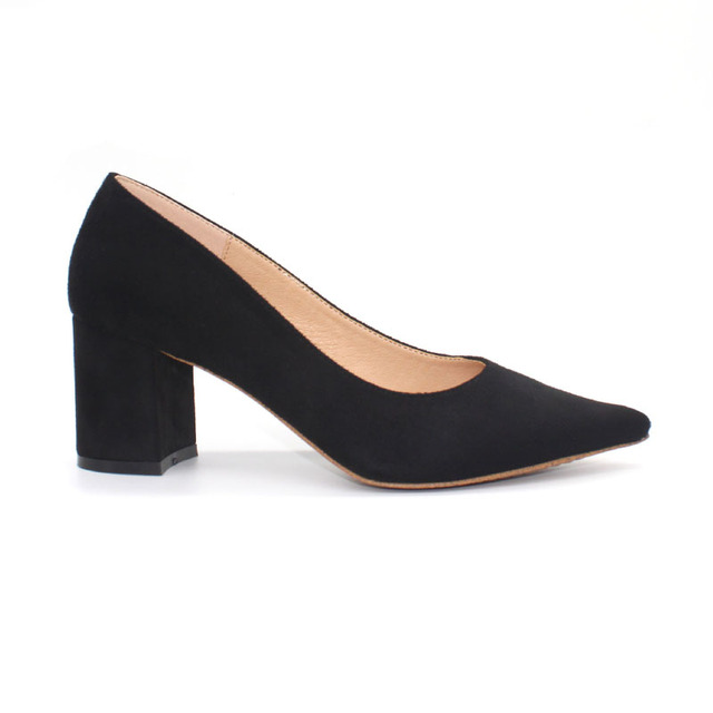 38fef08e17d Womens Ladies mid high Heel Work Platform Court Shoes Office Lady Pointed  Toe Pumps Women Shoes