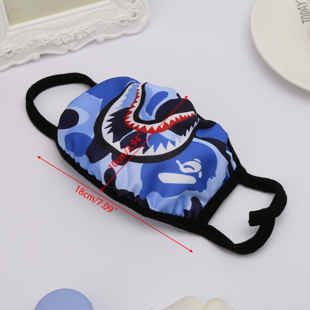 Shark Mouth Anti-Fog Flu Face Masks Unisex  Respirator Mouth-muffle Mask 1
