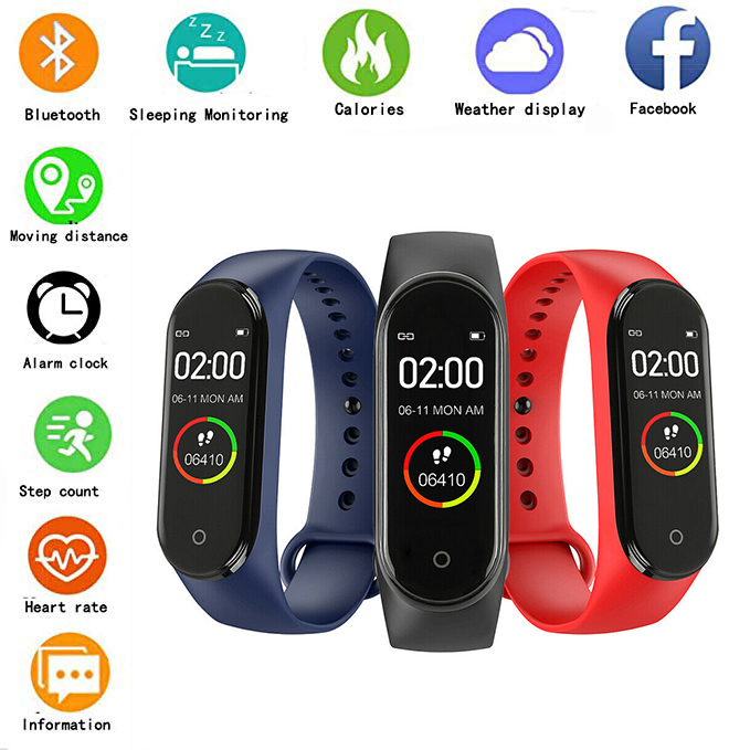 Sport-Watch Monitor Bracelet Fitness-Tracker Blood-Pressure-Monitor Smart-Band Waterproof