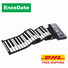 DHL Free Shipping Roll Up Piano 61 Keys with Karaoke Mode, Soft Silicone Midi Electronic Hand Roll Keyboard Musical Instruments