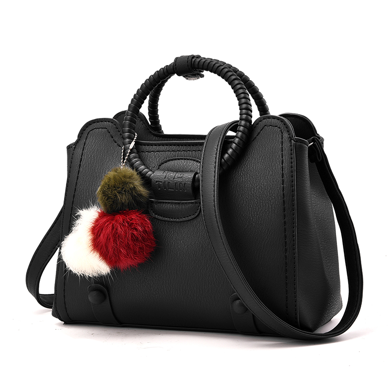 ФОТО Brand Fashion Fur Women Bag Handbags Women Famous Designer Women Leather Handbags Luxury Ladies Hand Bags Shoulder Sac