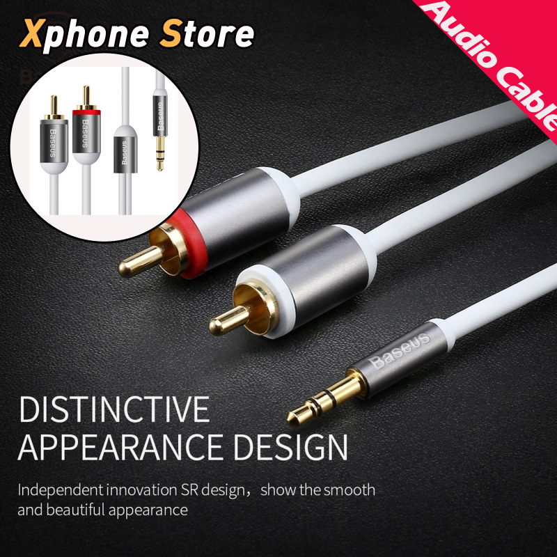 stereo audio jack wiring promotion shop for promotional stereo baseus e36 aing hi fi aux audio cable 3 5mm male to 2 rca male plug jack stereo audio wire for smartphone tablet ipad mp4 mp5