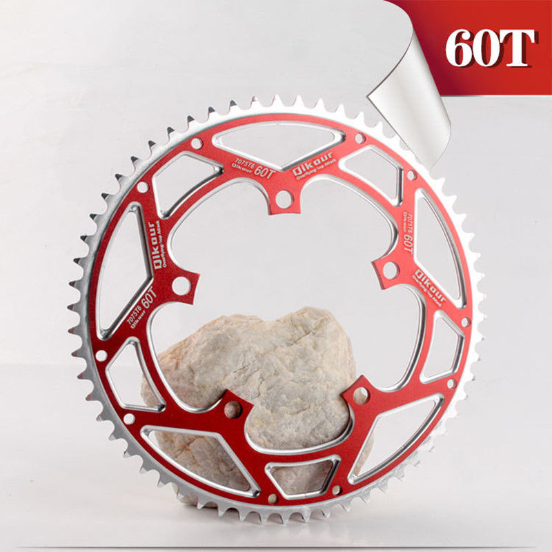 BMX Folding Bike Chain Wheel Aluminum Alloy 130BCD 60T Chainring Black / Red 8/9/10/11 Speed Chainwheel Road Bicycle Disc Chain-in Bicycle Crank & Chainwheel from Sports & Entertainment    1
