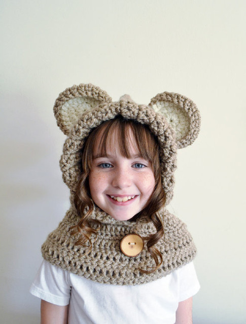 Aliexpresscom Buy Childrens Bear Hooded Scarfadult Hooded Cowl