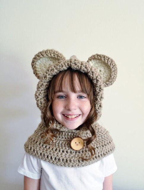 Tienda Online Los niños del Oso de la bufanda con capucha, capucha ...