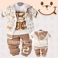 Розничная новый 2015 весна осень комплект одежды детский спортивный костюм мальчики спортивная детские пальто майка брюки 3 шт. свободного покроя комплект