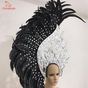 ChengBright 10 ярдов 10-12 дюймов ширина с перьями из хвоста петуха отделка Coque отделка из перьев для поделок платье юбка костюмы шлейф