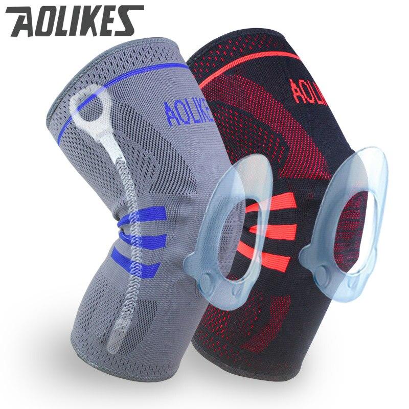 1 pieza Unid de baloncesto rodillera de compresión soporte de rodilla manga de recuperación de lesiones voleibol Fitness deporte de seguridad deporte equipo de protección