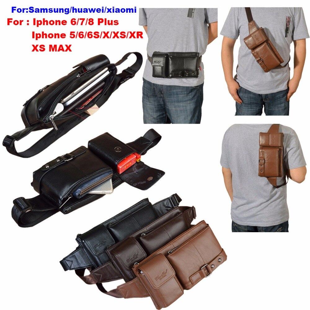 Funda de cuero para Iphone X, funda de cinturón para teléfono, bolsa con cremallera multifunción para 6 6s 5S 7 8 Plus X XS 5C 5S MAX XR