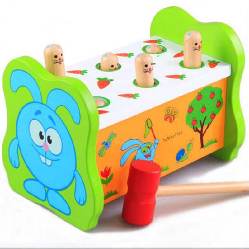 цена на Educational DIY Toy Baby Kids 3D Toys Wooden Building Blocks Hamster Game Blocks Cartoon Cute Kids Intelligence Baby Toys/Gift