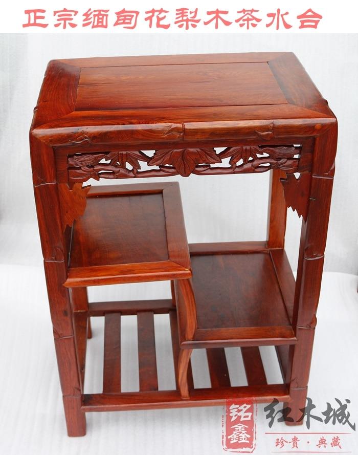 Meubles en acajou armoires à thé en palissandre birman buffet table basse grand porte-thé en palissandre de fruits support de téléphone